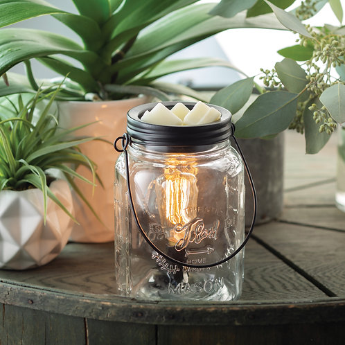 Mason Jar Edison Wax Warmer