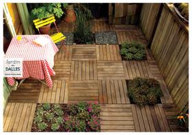 Aménagement terrasse vegetalisée | Jardin des dalles