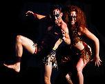 Creepy Circus Balancing Duo Caveman Characters