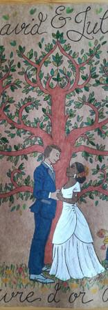 Livre d'or David et Julie recto