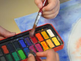Ateliers aquarelle à l'école Marc Bloch