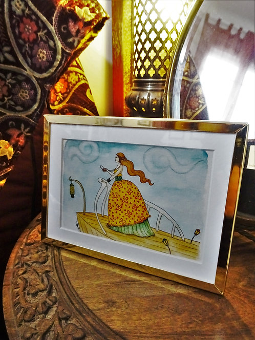 """Cadre carte aquarelle """"Sur la proue"""" A6"""