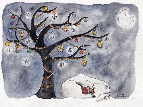 Reproduction aquarelle - L'arbre de lumière