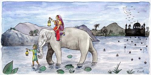 Reproduction aquarelle - Voyage en Inde