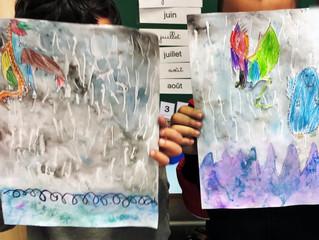 Pluie et dragons dans une classe de maternelle