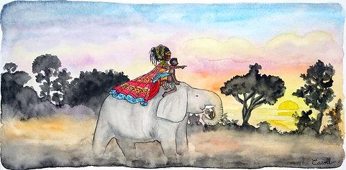 Reproduction aquarelle - Voyage en Afrique