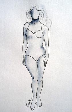 Vénus solaire femme silhouette