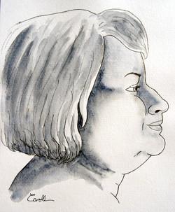 Vénus lunaire femme profil