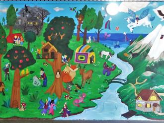 Mon plus gros projet : une fresque à histoires dans une école !
