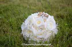 Brautstrauss auf Wiese