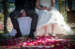 Füsse von Hochzeitspaar