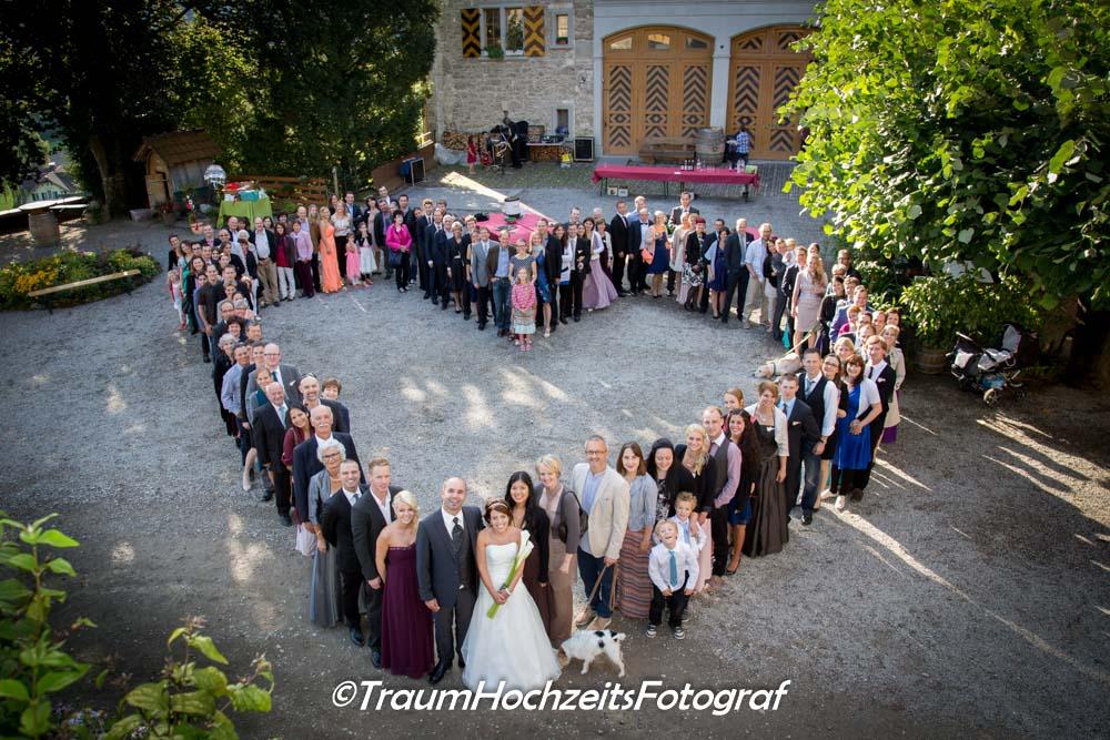 Hochzeitsgesellschafts als Herz