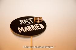 Just Married Schild