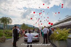 Luftbalone an Hochzeit