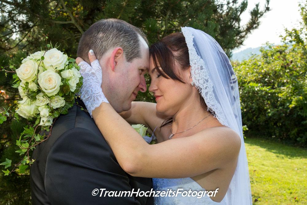 Sinnliches Hochzeitsfoto