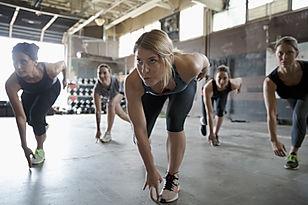 Classe de fitness pour femmes.