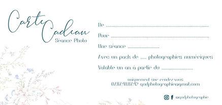 Carte Cadeau - qndphotographie