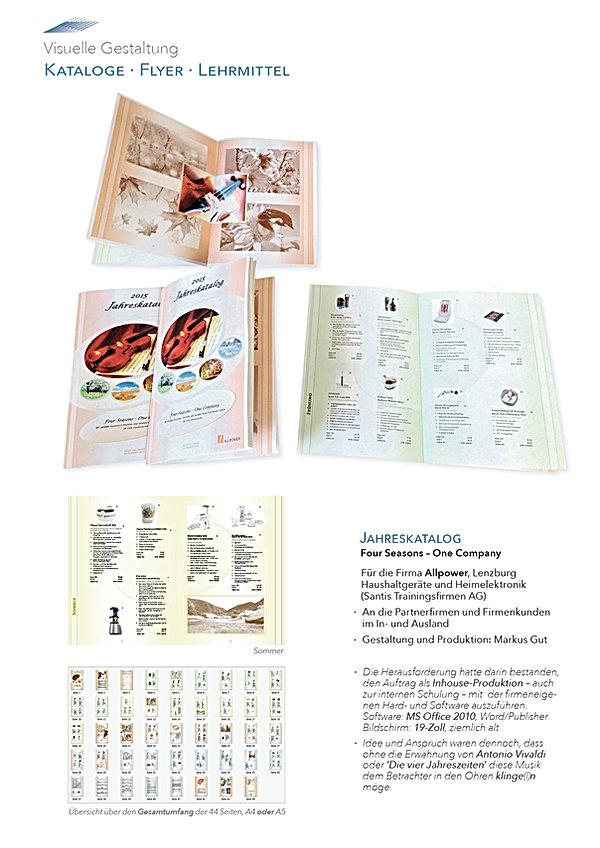 Kataloge, Jahreskatalog