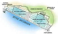 Le Marais de Müllembourg abrité derrière la Jetée Jacobsen