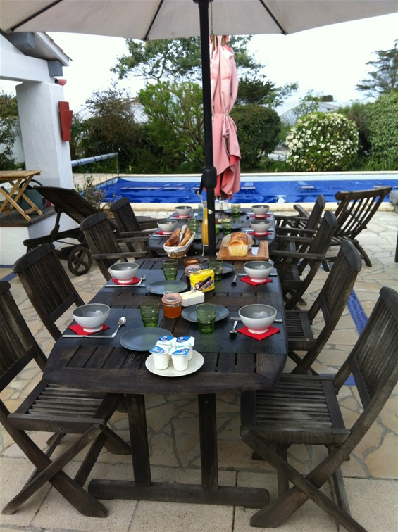 Salle à manger de plein air