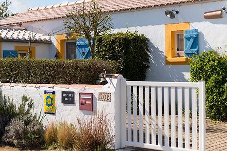 Entrée des chambres d'hôtes Les Yeux Bleus à Noirmoutier