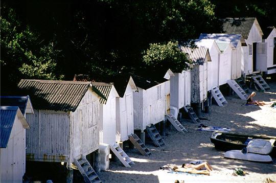 Cabines de bain de l'Anse Rouge