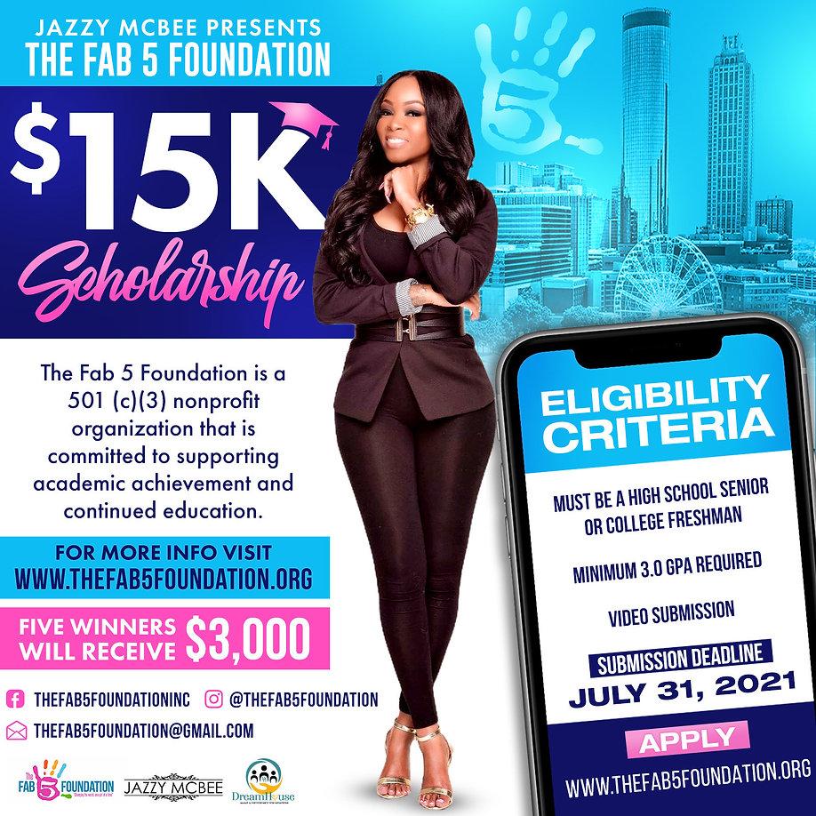 The Fab 5 Foundation $15k Scholarship.jp