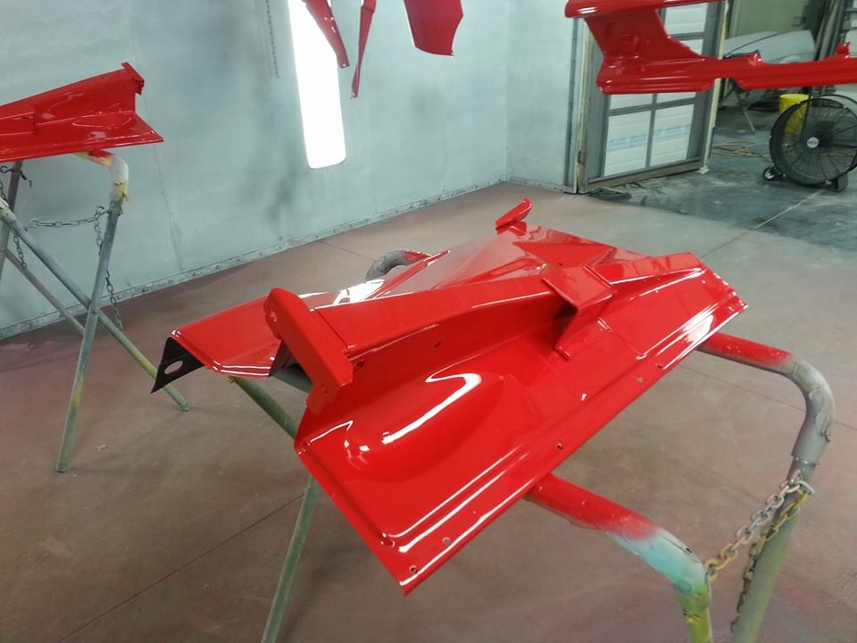The paint goes on, now that's red.