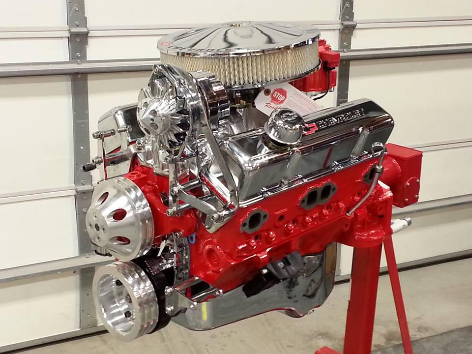 Freshly rebuilt motor.