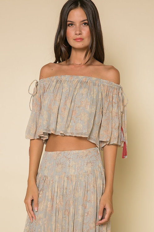 Whispered Dreams Tie Shoulder Crop Top