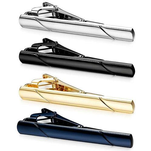 Men' Stainless Steel Tie Clip Necktie Bar Clasp Clamp Gold Black Silver Navy