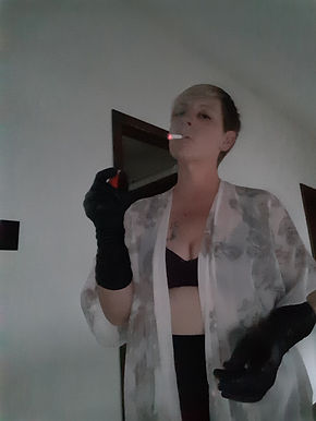 "<img alt=""Miss J, Mistress, Domme, FemDom, dominant, smoking fetish, capnolagnia, leather gloves, face slapping, spitting, breath play, human ashtray, human furniture, bdsm, bdsm play, safe sane consensual"" src=""20180925_181748.jpg"""