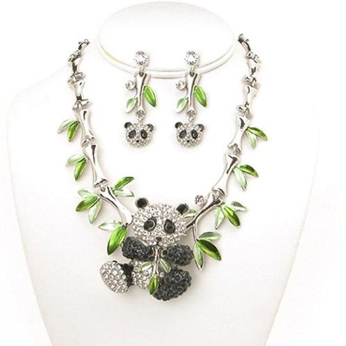 Panda Necklace Set