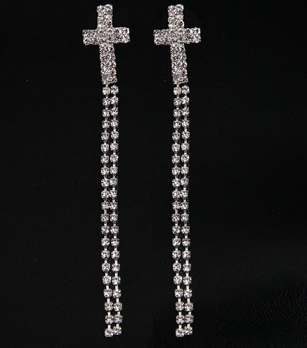 Cross Chandelier Earrings