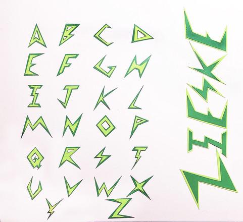 Josh Zieske, Typography