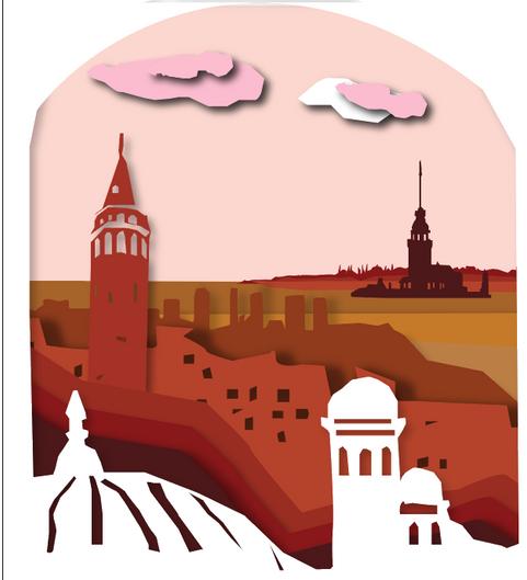 Can Cavus, Istanbul, Digital illustration, Adobe Illustrator