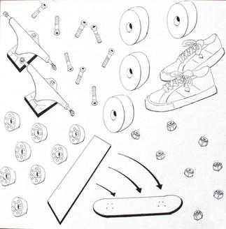 Eric Meheles, Skateboard Parts