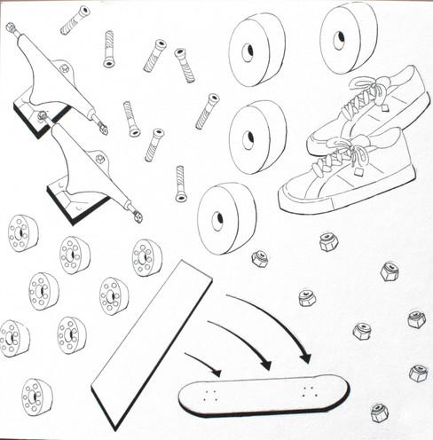 Eric Meheles, Skateboard Schematic