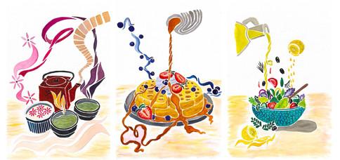 Vahide Akin Gurlu, Food Illustrations