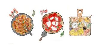 Weaam Zweki, Food illustration series