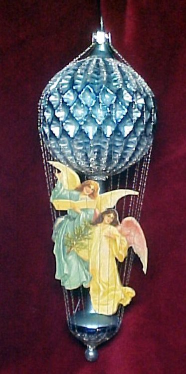 #5511-001 - Wire Wrapped Angel Ballon, Blue
