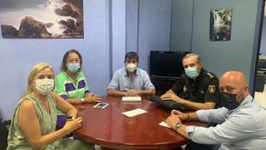 ALGECIRAS   Carmelo García se reúne con la Junta Local de Seguridad