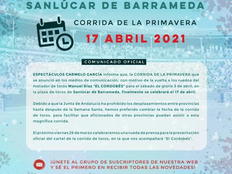 Corrida de la Primavera en Sanlúcar de Barrameda