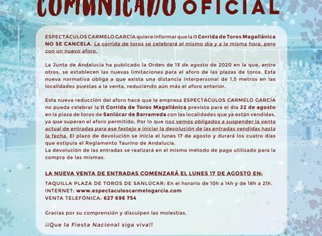 COMUNICADO OFICIAL Corrida Magallánica 2020