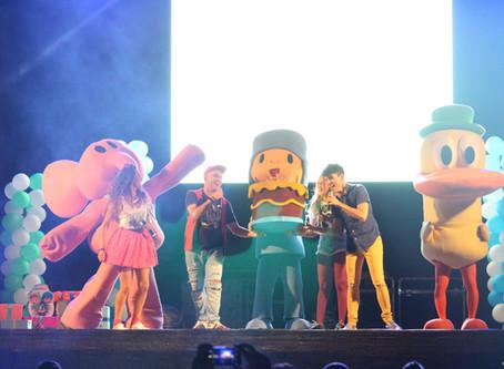 Ayer Utrera se lo pasó genial en El Cumple de Pocoyo, junto a los chicos de Conecta Kids