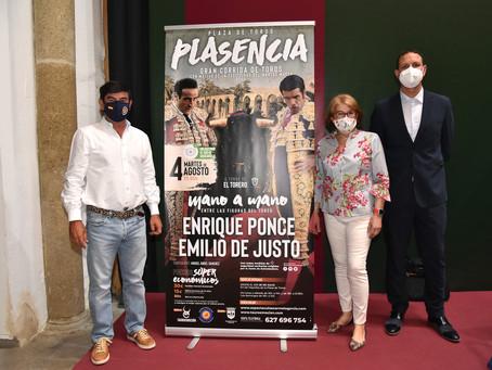 Ponce y De Justo, cartelazo en Plasencia para la vuelta de los toros a Extremadura