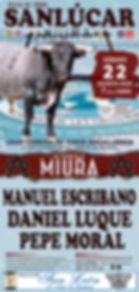 CORRIDA MAGALLÁNICA 2020 - MIURAS EN SANLÚCAR