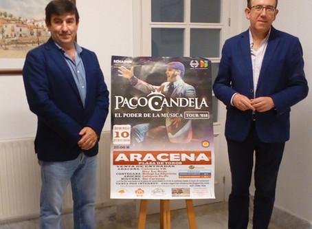 Presentación cartel concierto Paco Candela en ARACENA
