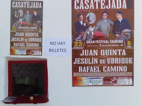 No hay billetes en Casatejada
