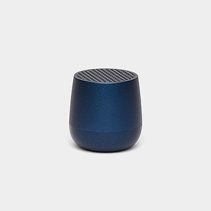 Enceinte Mino bleu métal Lexon